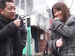 Japanese unilluminated babe picked up on the street, fucked and cream pied