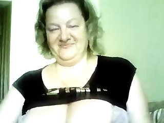 Hot 50 yo Russian mature Marina play on skype