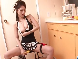 Powerful blowjob on two cocks by Ann Yabuki