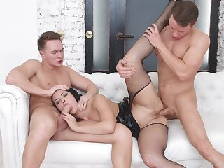 Hard sex with two males in insane XXX scenes