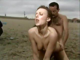 Tall milf sex on the beach