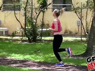 Zoey Taylor is seduced while on a jog and gets fucked hard