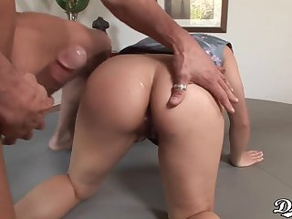 Hot oriental chick Mya Luanna goes hardcore again. Full clip. 720p HD
