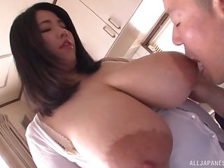 Amateur Asian with huge tits, insane POV oral
