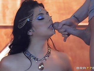 sensual dancer Gina Valentina likes to ride stranger's fat penis