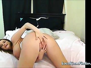 Beautiful Pregnant Milf Milking and Flashing