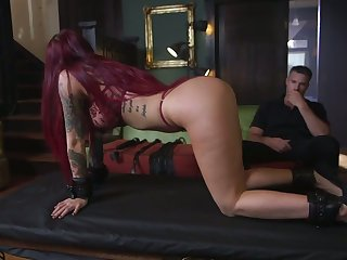 Tattooed submissive Tana Lea is face fucked before hardcore pussy pounding