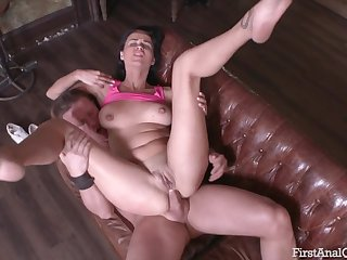 His dirty anal whore is down with any position