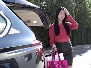 Lady Dee's asshole penetrated hard in one in excess of one action