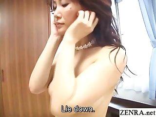 Beautiful Japanese milf first time JAV debut Subtitles