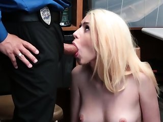 Young guy old woman and perfect blonde girl in homemade
