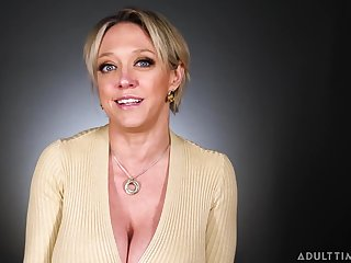 Busty MILF pornstar talking about the fine art of masturbation