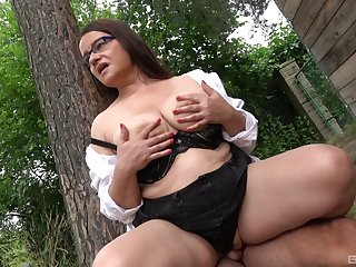 Lovely mature takes cock in public and gets filmed