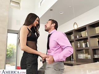 Tall Latina babe loves being the aggressor and that girl can fuck like mad