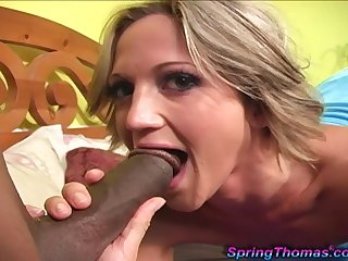 Spring Thomas moans with pleasure while a monster black dick fucks her