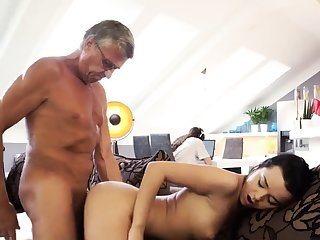 Old man massage What would you prefer - computer or your