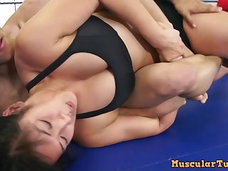 Mixed Wrestling With Stunning Asian Babe Mia Li