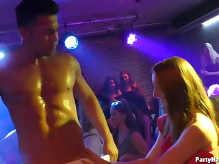 Aroused girls are partying and looking for guys in the club, who would fuck them without questions