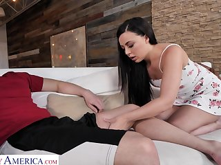 Bored stud is pleased by quite naughty sexy brunette Whitney Wright