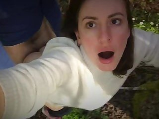 Stranger Fucks Me Hard in the Forest and I Film it