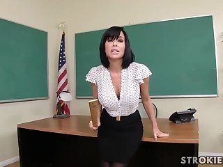 Veronica Avluv is a sumptuous dark haired with immense, rigid hooters who luvs to blow various hard-ons