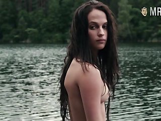 Completely naked Alicia Vikander compilation