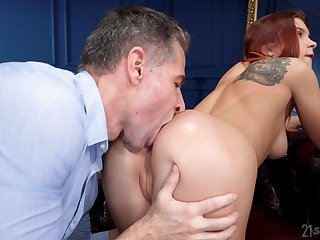 Naked redhead likes it in the ass more than anything