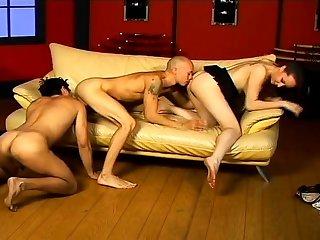 Bisexual hardcore threesome fuck