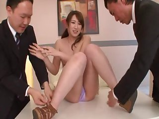 Cum loving Japanese girlfriend Yui fucked and covered with man juices