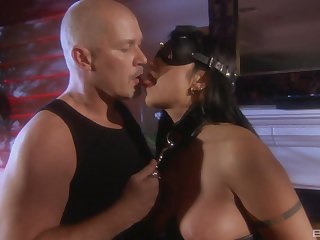 Passionate fucking in the night with provocative Satine Phoenix