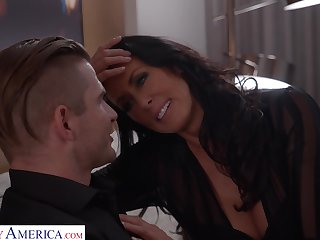 Young man hires a pornstar escort and that busty MILF loves role play
