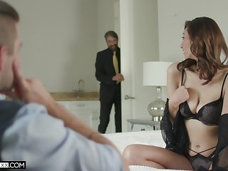 Father in law walks into the room to fuck this babe right