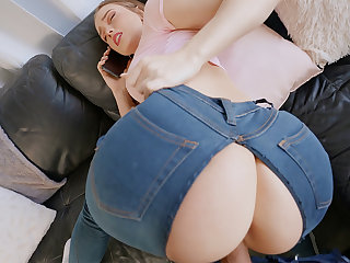 Sneaky mate pounded youthfull hotty in torn denim