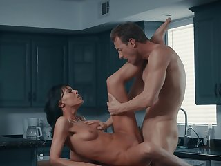 Slender ignorance makes love with skillful sweetheart in kitchen