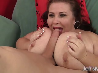 Excited Plumper Daughter Lynn Sucks a Long Detect Before Riding Colour up rinse Hard