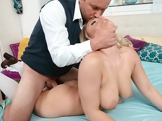 Busty blonde has never distinctive of her step daddy so scalding
