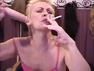 old whore smoking 120s