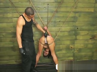 Super sexy babe Isa is tied up and to suck dick