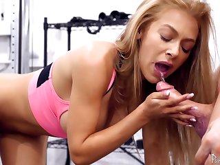 Lustful MILF Honey Blossom Fitness Room Sex Video