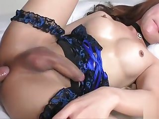 Huge titted asian tgirl asshole reamed