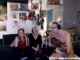 Weird CFNM webcam music show
