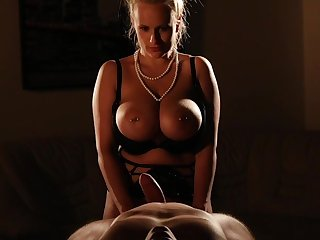 Hot mistress pleases her man with anal and nudity